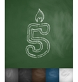 candle five icon vector image vector image