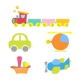Cartoon baby transport set isolated on white vector image