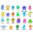 cartoon monsters collection set cartoon vector image
