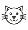 cat mascot pet silhouette icon vector image