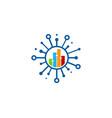chart share logo icon design vector image