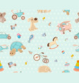 childrens seamless texture vector image vector image