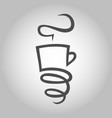 coffee cup with a spring symbol icon vector image vector image