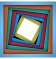Colorful paper square and frame background vector image vector image