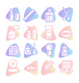 cosmetics icons set on white background vector image