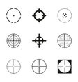 crosshair icons set vector image vector image