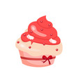 cup cake icon on white background for graphic and vector image