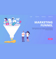 digital marketing sales funnel funnel vector image