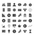 finance money solid web icons vector image