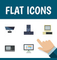 flat icon laptop set of pc vintage hardware vector image vector image