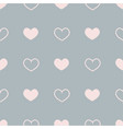 flat seamless pattern with pink hearts on vector image