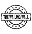 grunge textured the wailing wall stamp seal vector image