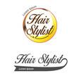 hair salon logo hair stylist emblem beauty salon vector image