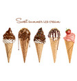 hand drawn delicious ice cream vector image vector image