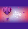 heart shaped hot air balloon in paper art on vector image vector image