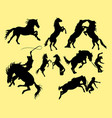 horse action silhouettes vector image