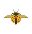 insect flat style design icons nature vector image vector image