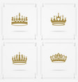 king and queen crowns symbols vector image vector image