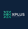 letter x medical plus logo abstract initial vector image