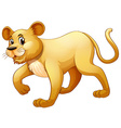 Little cub walking alone vector image vector image