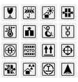Marking of cargo icon set vector image