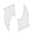 mesh refresh icon vector image vector image