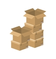 multiple boxes stacked and opened vector image