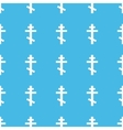 Orthodox cross straight pattern vector image vector image
