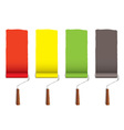 Paint roller stripe vector image