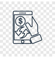 payment method concept linear icon isolated on vector image