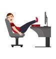 Person sleeping on desk icon