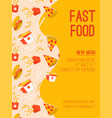 poster fast food new menu concept vector image