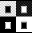 rectangular picture frame hanging on wall icon vector image
