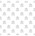 Roman colonnade pattern cartoon style vector image vector image
