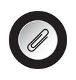 round black white icon - paper clip paperclip vector image vector image