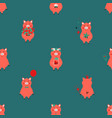 seamless pattern with funny piglets vector image vector image