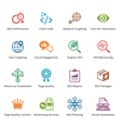 SEO and Internet Marketing Colored Icons - Set 4 vector image vector image