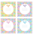 set of baby frames vector image