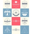 set of badges Photography and Videography vector image vector image