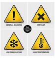 set warning symbols vector image