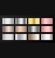 silver platinum bronze pink gold gradients vector image