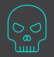 skull line icon halloween and scary dead sign vector image vector image