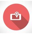Smartphone GPS icon vector image