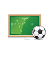 Soccer playboard vector image