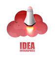 space rocket launch startup creative idea vector image vector image