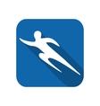 Sportsman man runner silhouette vector image vector image
