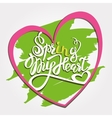 Spring in My Heat Lettering vector image vector image