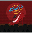 stand up comedy sexy female comic ladies night vector image