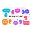 team people with different shapes speech bubble vector image vector image