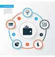 trade icons set collection of payment contract vector image vector image